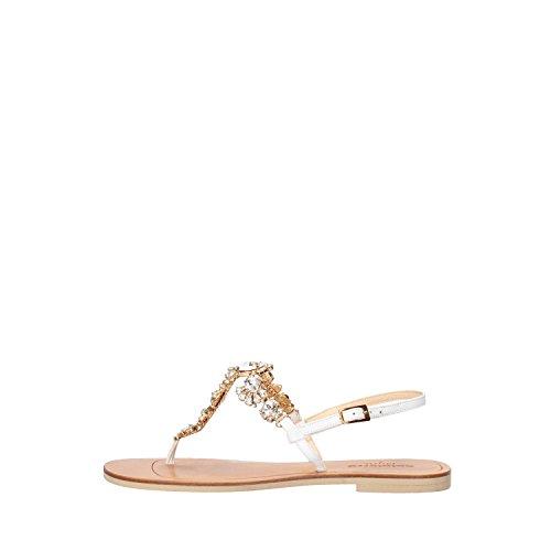 CALPIERRE sandali donna 39 EU bianco pelle AG742