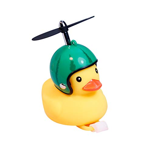 huyiko Zweirad Duck Bell mit leichtem Wind, kleine Ente, Gelb, MTB, Rennrad, Motorrad, Reiten, Fahrradzubehör (Fahrrad-propeller)
