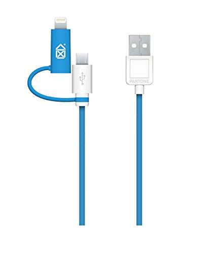 Case Scenario-Pantone tessuto-Cavo Lightning per iPhone 5/5S/5C/6/6 Plus, iPod Nano di 6a generazione e 7a generazione, iPad Air, 1/2, 1/3, iPad Mini, colore: blu