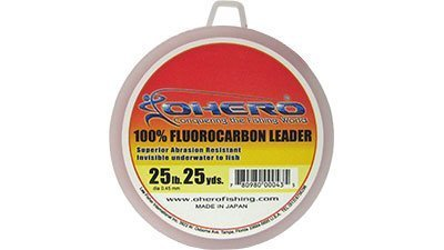 Ohero 100% Fluorocarbon Leader 25 Lb 25 Yards Spool by OHERO (Spool Leader Fluorocarbon)