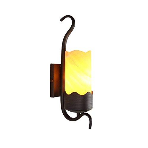 Leizhi Vintage Eisen Marmor Wandleuchte Kreative Warme Schlafzimmer Nachttischlampe Hotel Gang Wandleuchte - Home Office Wandleuchte