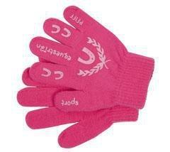 Pfiff 101583 Kinder Handschuhe mit Print, Winterhandschuhe, Universalgröße, Pink / Rosa