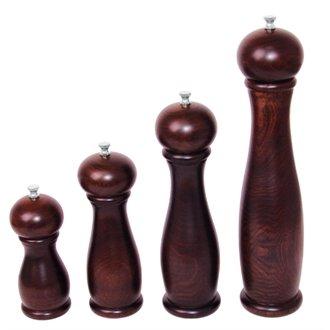 20 Restauration ce335 Moulin à sel/poivre en bois foncé, Hauteur : 255 Mm, 25,4 cm
