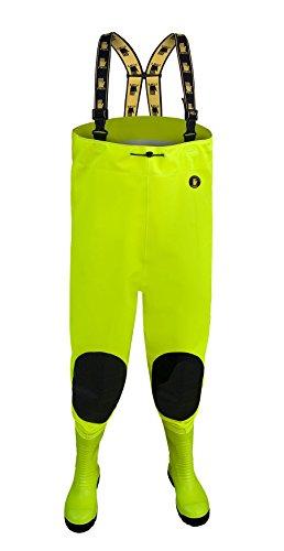 Max S5 Fluo, vadeadores de pesca, vadeador botas, pescadores , fluorescente Hi Vis Amarillo, Naranja, AMARILLO fluorescente