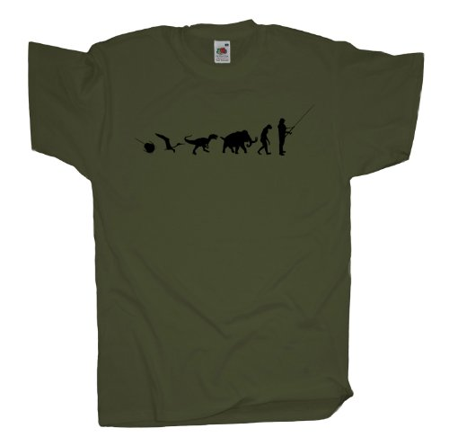 Ma2ca - 500 Mio Years - Angler Angelroute T-Shirt Olive
