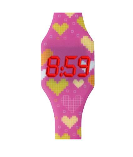 KIDDUS Reloj LED Digital para niña o niño. Pulsera de Silicona Suave para niños y Adultos. Batería...