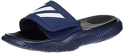 Adidas Men's Alphabounce Slide Dkblue/Ftwwht/Cblack Flip-Flops-6 UK (39 1/3 EU) (6.5 US) (F34774)