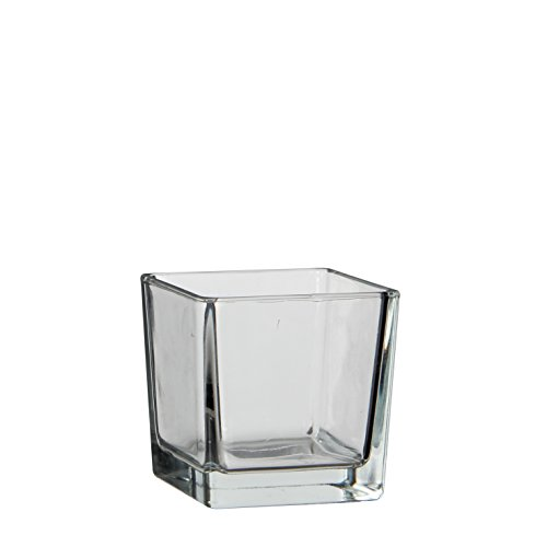 MICA Decorations 1013003 Lotty Vase, Glas, Transparent, 10 x 10 x 10 cm