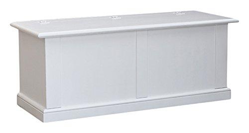 Pieffe Mobili Arte Povera Cassapanca Baule, Legno, Bianco, 120x48x52 cm
