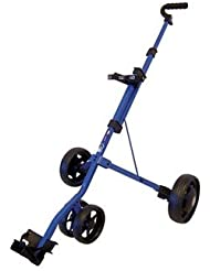 Go Golf Junior 3 Wheel - Carrito de golf de mano con ruedas ( 3 ruedas, correas, junior, ligero, plegable ) , color azul, talla 0