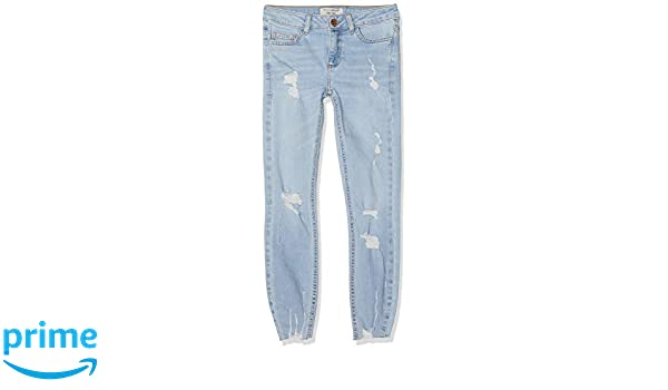 New Look 915 Girl's Angie Super Bleach Jeans, Blue (Light Blue 45), 13 Years (Manufacturer Size:158)