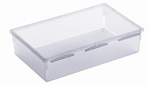 Rotho 1788400096 Schubladen Ordnungssystem aus Kunststoff, transparenter Schubladenorganizer, flexibel und modular einsetzbar, hergestellt in der Schweiz, Mass 23 x 15 cm 7 Kunststoff Schubladen