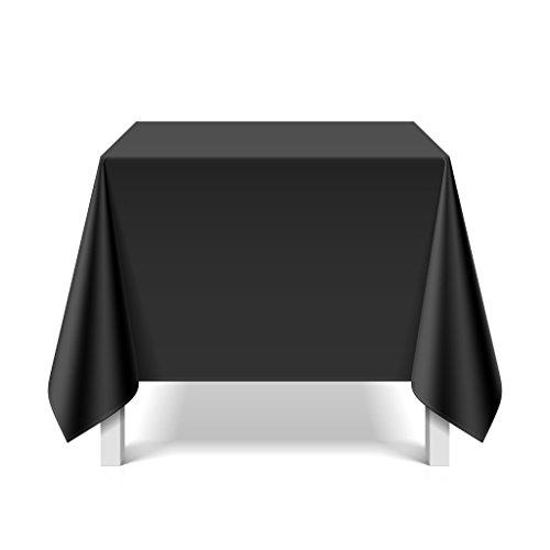 eXODA Tischdecke abwaschbar eckig Deko Vinyl schwarz zuschneidbar Schutzbezug 180x220cm wasserdicht