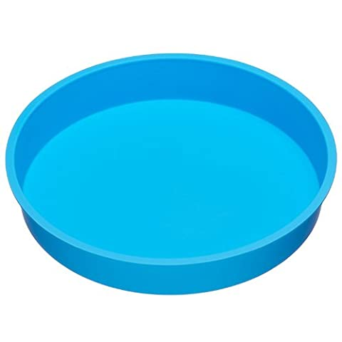 baekka Rundform Silikon-Backform blau 26cm