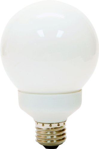 GE LIGHTING Energy Smart CFL G25 Glühlampe mit Medium Base, 1er Pack, 89633, 15watts, 120 volts -