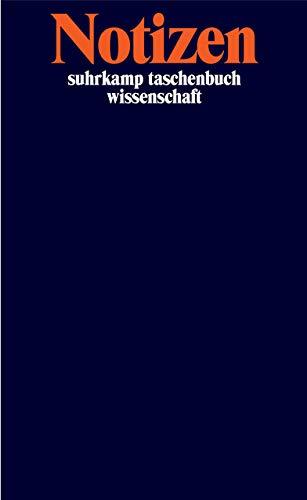 Notizbuch suhrkamp taschenbuch wissenschaft: Notizen
