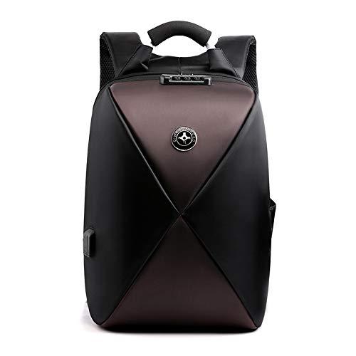 Wznb Borsa da uomo Zaino antifurto per motocicletta con grande capacità, con guscio rigido, per ricarica esterna, borsa per computer multifunzione impermeabile