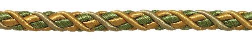 Goldene Farbe Dekorative Trimmen (9yard Value Pack groß oliv gold Barock Kollektion 7/40,6cm Zierkordel ohne Lippe Stil # 716bnl Farbe: Golden Olive-1755(27ft/8Meter))