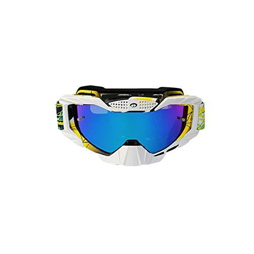 Amody Brillen Mens Motorradfahrglaserienbrille im Freien Brillen Cross-Country-Goggles Buntes Gelb