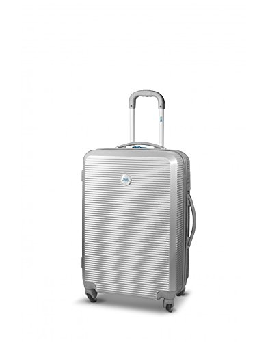 RONCATO CIAK LOUNGE II - TROLLEY GRANDE 4 RUOTE - TSA - LIGHT WEIGHT (ARGENTO)