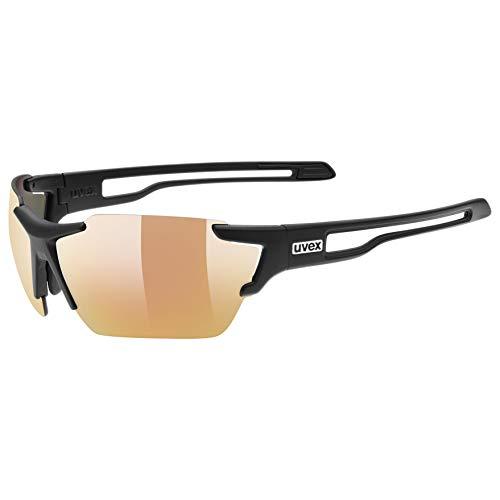 Uvex Erwachsene Sportstyle 803 colorvision variomatic Sportbrille Mit Kontraststeigerung Und Stufenloser Scheibentönung Black mat, One Size