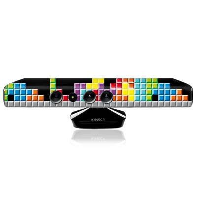 Microsoft Xbox 360 KINECT Design Skin Folie Aufkleber - 8-Bit Tetris - 360 Spiele Xbox Tetris