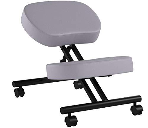 Ergonomischer Kniestuhl, Verstellbarer Hocker für Zuhause und Büro - Verbessern Sie Ihre Haltung mit einem abgewinkelten Sitz, Dicke Bequeme Kissen