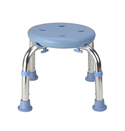 YY_SUN Taburete de bañera, baño de Aluminio Antideslizante Silla de Ducha Taburete de Maternidad reposapiés de Altura Ajustable, Rosa, Peso 175 kg (Color : Azul)