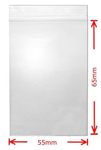 kleine Druckverschlussbeutel 55x65 mm 90my 100 Stück wasserdichte wieder-verschließbare Zip-Beutel WeltiesSmartTools