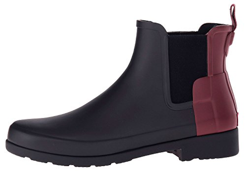 Hunter Damen W Org Refined Chelsea Gummistiefel Black Dulse