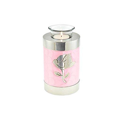 Cherished Urns Rose Pink Gemustert Teelicht Urne Urne für Asche -