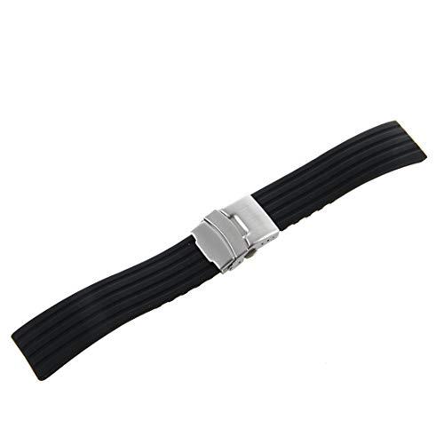 SODIALR Silicona reloj correa caucho band hebilla