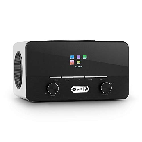 auna Connect 150 WH • 2.1-Internetradio • Digitalradio • WLAN-Radio • LAN • DAB / DAB+ / UKW-Tuner • RDS • Spotify Connect • USB • AUX • weiß