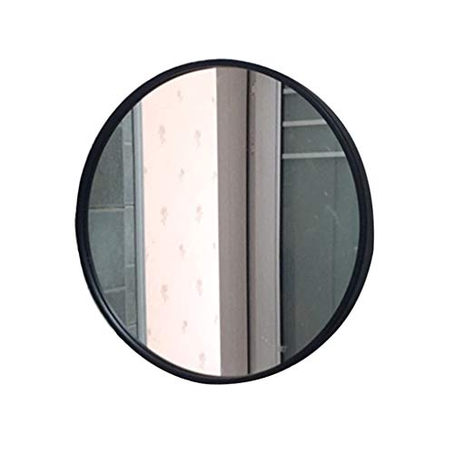 Home warehouse Badezimmer-Wandspiegel, Eiserne Kunst Runde Wand montiert Vanity Spiegel Entrance dekorativen Spiegel Schönheitsspiegel,Black,D60CM