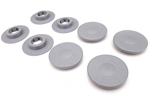 kh Teile Fußmatten Befestigung (4-teilig, grau ) / Automatten Halter Clips