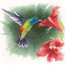 heritage-crafts-john-clayton-flights-of-fancy-hummingbird-in-flight-counted-cross-stitch-kit-14-coun