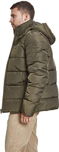 Urban Classics Herren Jacke Hooded Puffer Jacket, Darkolive, S - 2