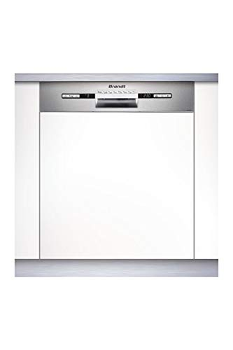 Brandt VH1772X Geschirrspüler, halbintegriert, 12 Maßgedecke, A++ - Geschirrspüler (halber integriert, maximale Größe (60 cm), Edelstahl, Tasten, 1,5 m, 1,5 m)