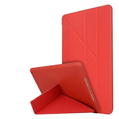 para iPad 9.7 estuche para iPad 6ª generación caso 2018/estuche para iPad 5ª generación iPad, estuche elegante ligero y estética ligera con Estuche protector TPU suave para iPad 9.7 2018/2017 - rojo