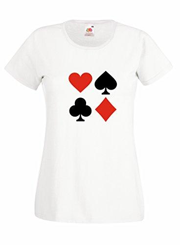 Settantallora - T-shirt Maglietta donna J2203 Come Quando Fuori Piove Bianco