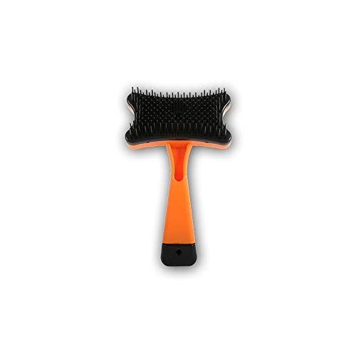 DXIA Brosse Professionnelle pour Animaux domestiquesBrosse Auto-nettoyante, Utilisé pour enlever Les expectorations et la Fourrure lâche, pour Chiens Chats Peigne de toilettage autonettoyant (Orange)