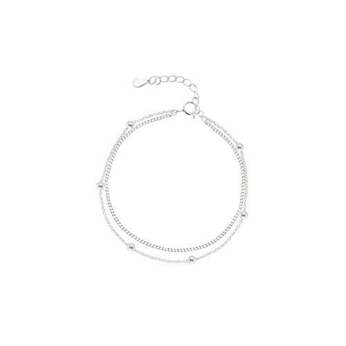 Daesar Damenarmband Silber 925 Multi Schichten Charm Armband Silber für Frauen/Mutter/Freundin 19 cm