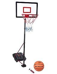 Dunlop 22873 - Set de baloncesto con bomba y pelota infantil, color negro