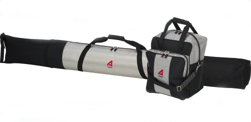 ATHALON Deluxe #135 Two-Piece Ski and Boot Bag Combo Boxed, (Silver/Black, 185 cm) (Bag Combo Ski-und Boot)