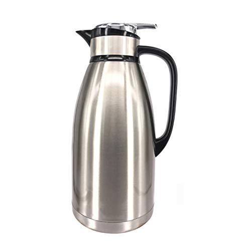 LY CROWM 2L / 3L Isolierflasche Kaffeekanne Thermokanne Doppelwandige Isoliervakuumkanne, Isolierglas aus Edelstahl Isolierglas Isolierkanne und Kaltkonservierung,3L