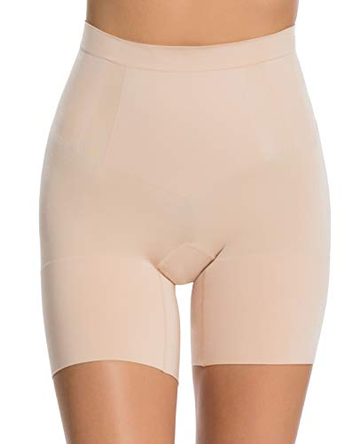 Spanx Oncore Shaping Mid-Thigh Shorts Thigh Slimmer with Tummy Control Soft Nude XS
