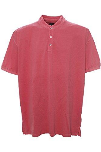 Kitaro Polo Poloshirt T Shirt Herren Kurzarm Stehkragen Plusgröße Übergröße Pink