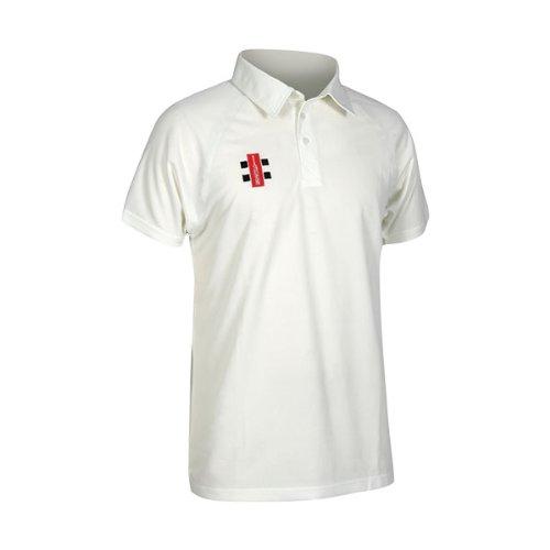 Gray-Nicolls Men's Matrix Short Sleeve Shirt-Ivory, Medium