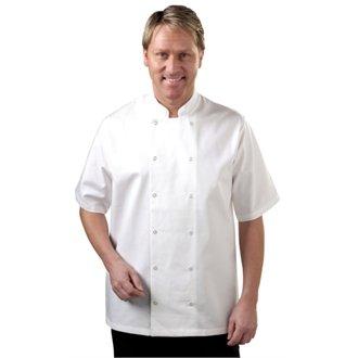 Whites Chefs Apparel A211-M Vegas Chefs Coat Jacket, Short Sleeve, Medium, White