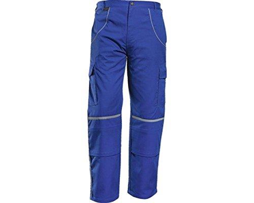 Charlie Barato Bundhose Größen - 2 Einschubtaschen 2 Cargo-Taschen 2 Gesäßtaschen 1 Handytasche 1 Zollstocktasche Reflexbiesen (58, Kornblau)